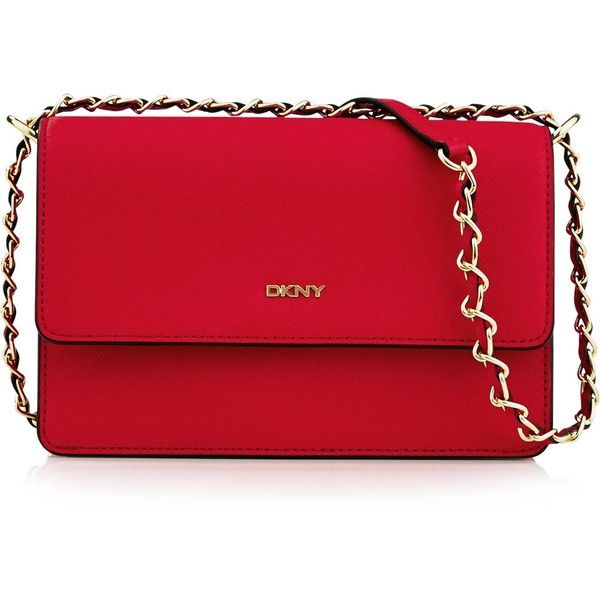 53e02dfb1b517 DKNY Bryant Park Saffiano Small Flap Cross Body Bag Red ( 190) ❤ liked on