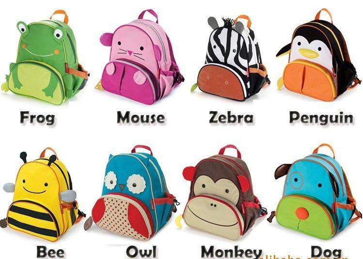 2014 new arrival limited zipper free shipping mini oxford cute kid children backpack zoo cartoon animal