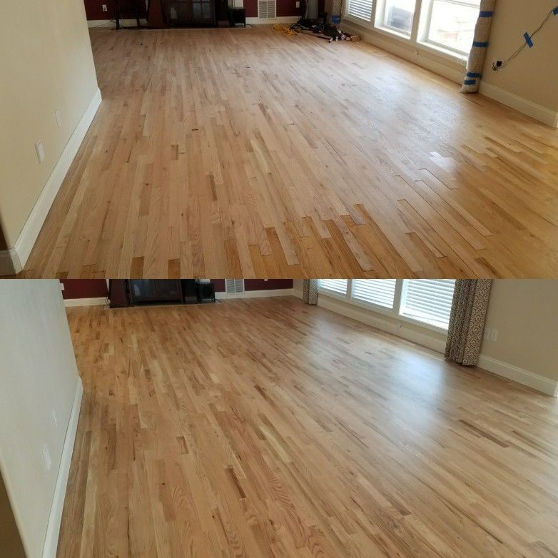 The Above Picture Is New Installed 2 1 4 Red Oak Laced Into The Original Existing Red Oak Hardwood That Was In The Kitchen Red Oak Hardwood Red Oak Hardwood