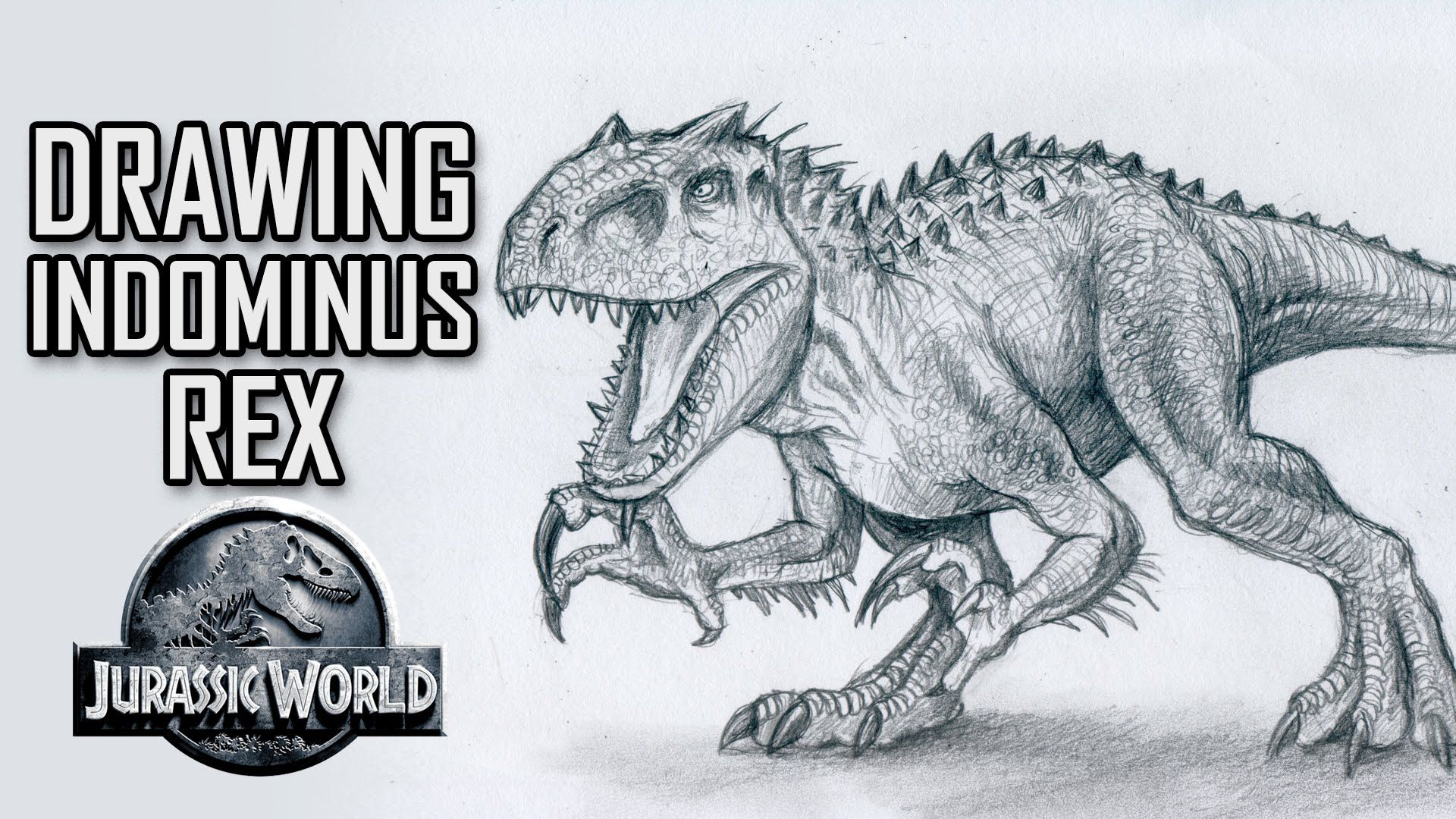Drawing Indominus Rex from Jurassic World Speed Drawing