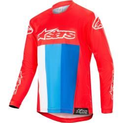 Photo of Alpinestars Racer Venom Motocross Jugend Jersey Weiss Rot Blau Xl Alpinestars