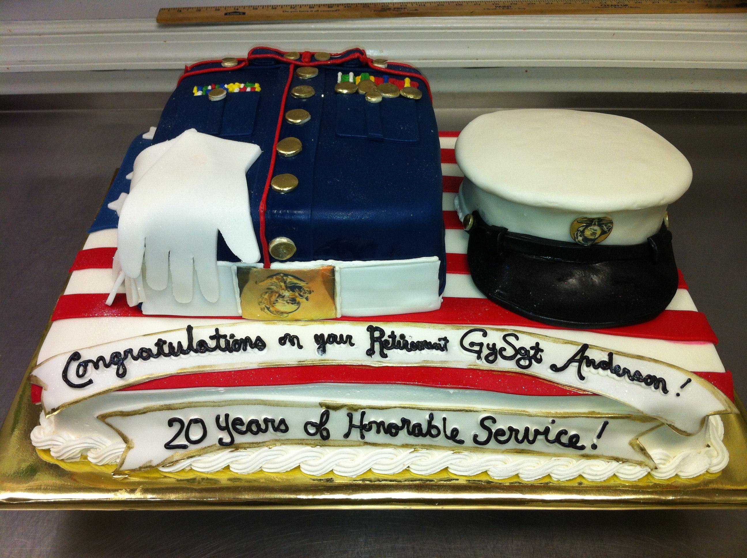 Marine Corp Retirement Cake