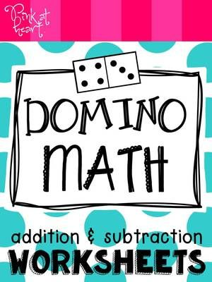 Domino Math: Addition and Subtraction Worksheets FREEBIE from Pink ...