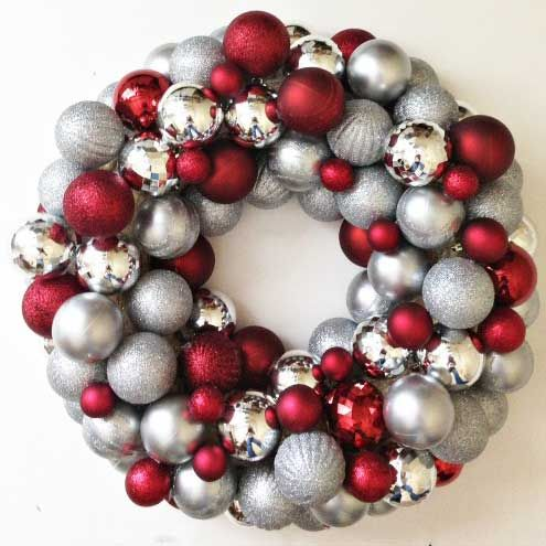 easy DIY ornament wreath can be made for as little as $20, much less