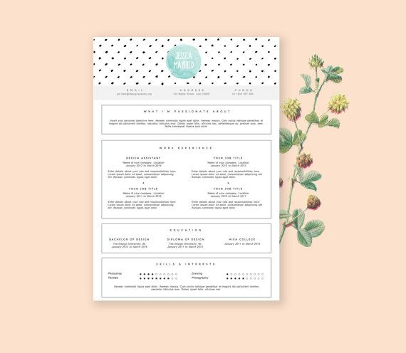 Stylish and feminine resume template including a cover letter design - best of invitation letter sample microsoft word