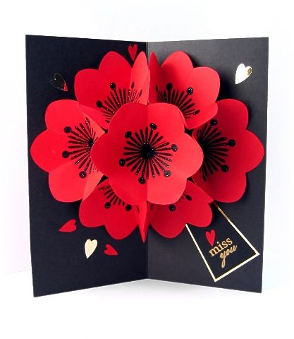 Pop up card flowers explosion of flowers paper crafts pop up card flowers explosion of flowers mightylinksfo