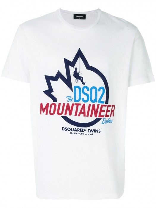 d7b36624c34a Dsquared2 Mountaineer Logo T-Shirt White Men #men #fashion #shirt  #christmas #christmasgifts #gifts #lifestyle