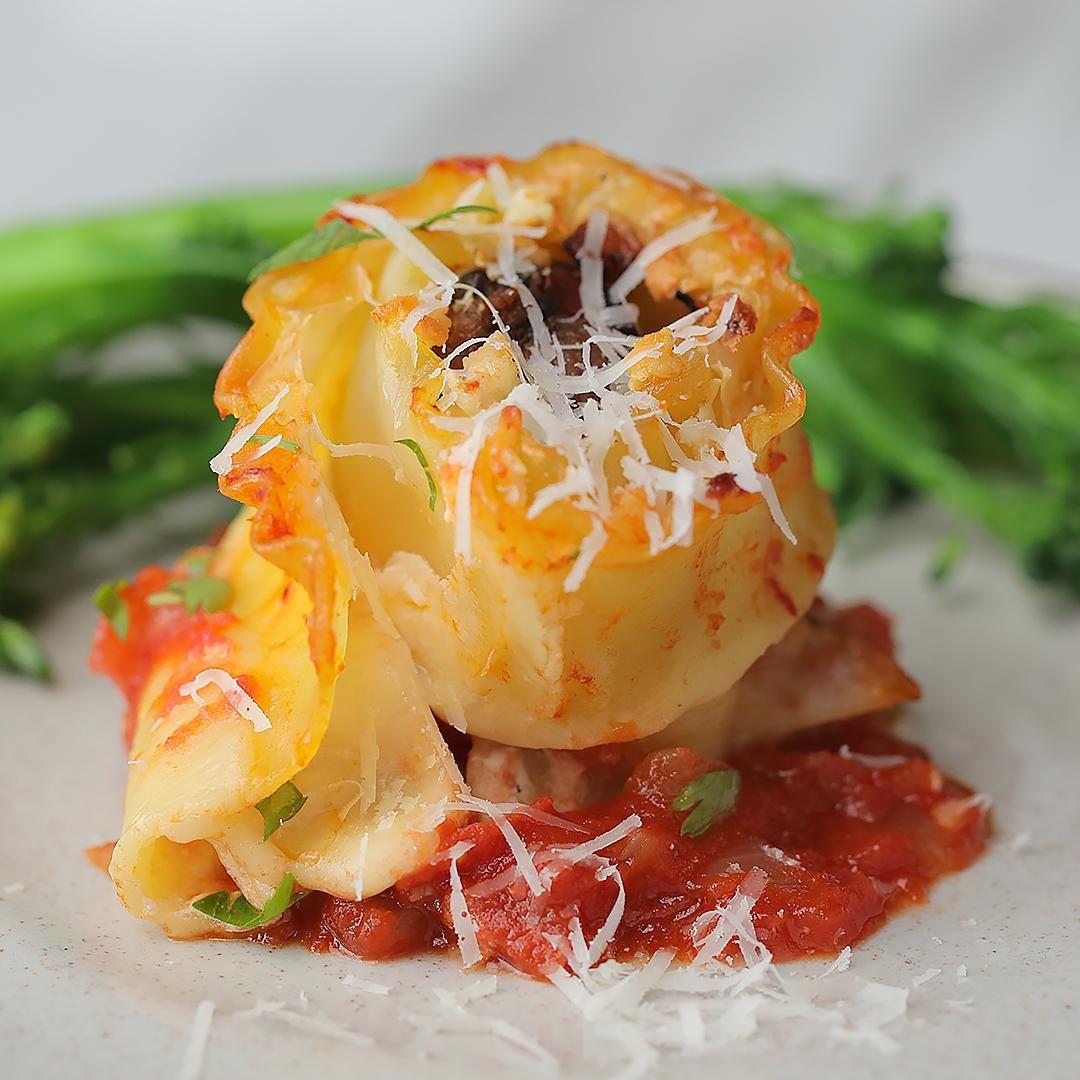 meatball lasagna bombs   recipe   meatball lasagna, tasty