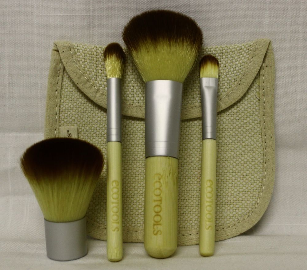 NEW Eco Tools 5 Pce Bamboo Makeup Brush Set Earth Friendly