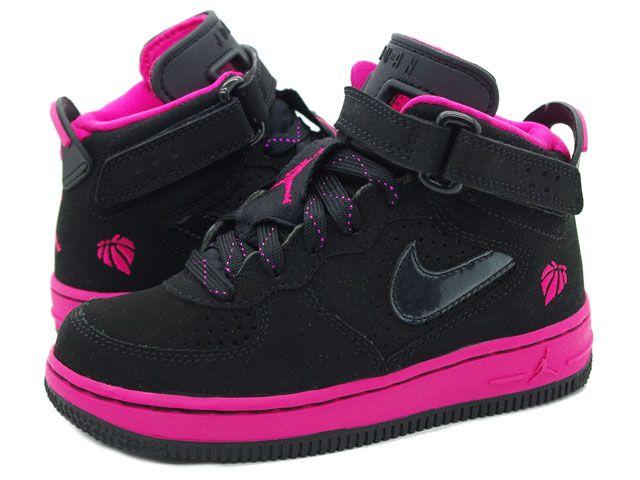 new arrival b25be b1ec8 black and pink toddler girls jordans | JORDAN FUSION6PS ...