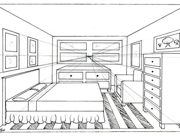 Epingle Par Eric Aboya Sur Dessin Perspective Maison Dessin Point De Fuite Dessin Deco