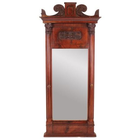 I pinned this Dauphin Mahogany Floor Mirror from the Vintage ...