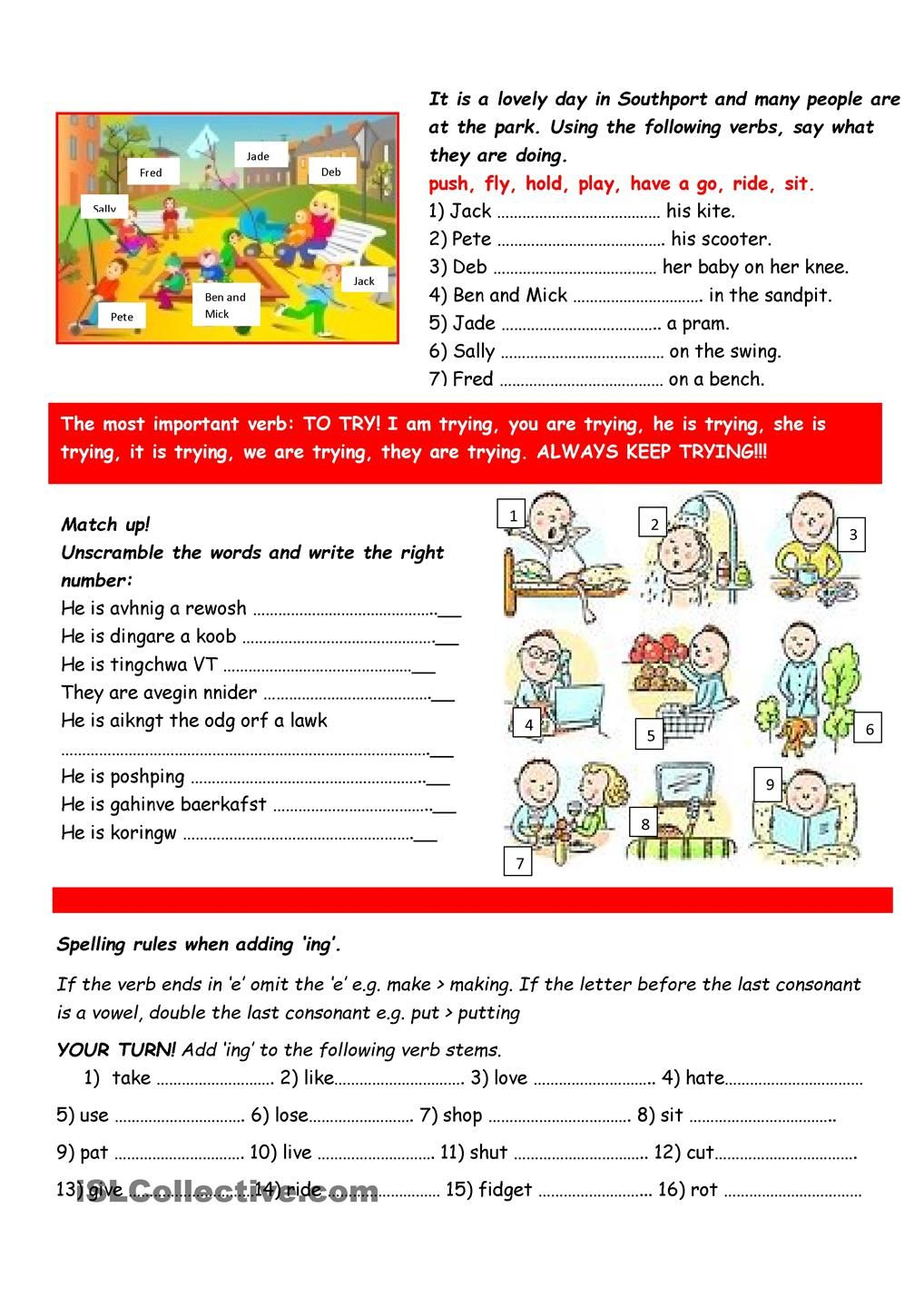 Present continuous practice | inglese | Pinterest