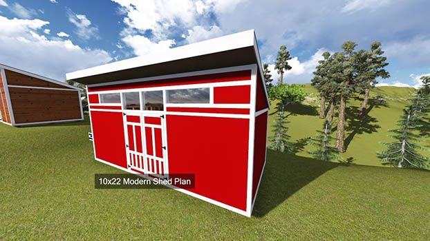10x22 Modern Shed Plan image | Studio Spaces | Modern shed