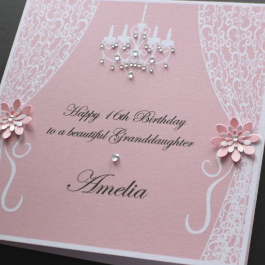 Handmade Personalized VINTAGE STYLE Birthday Card