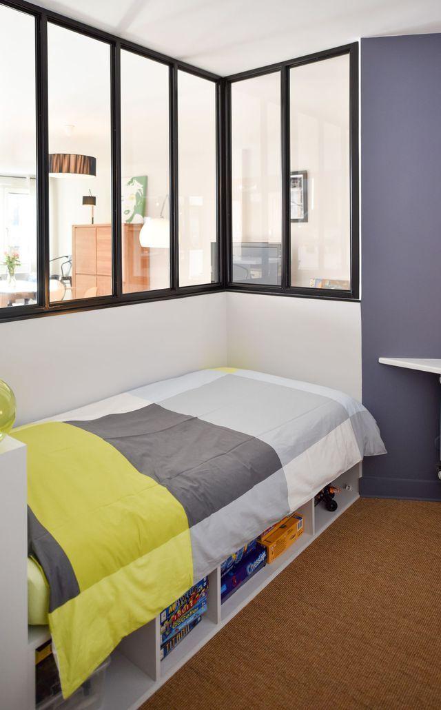 Verri re int rieure 12 photos pour cloisonner l 39 espace - Separer une chambre en deux avec une seule fenetre ...