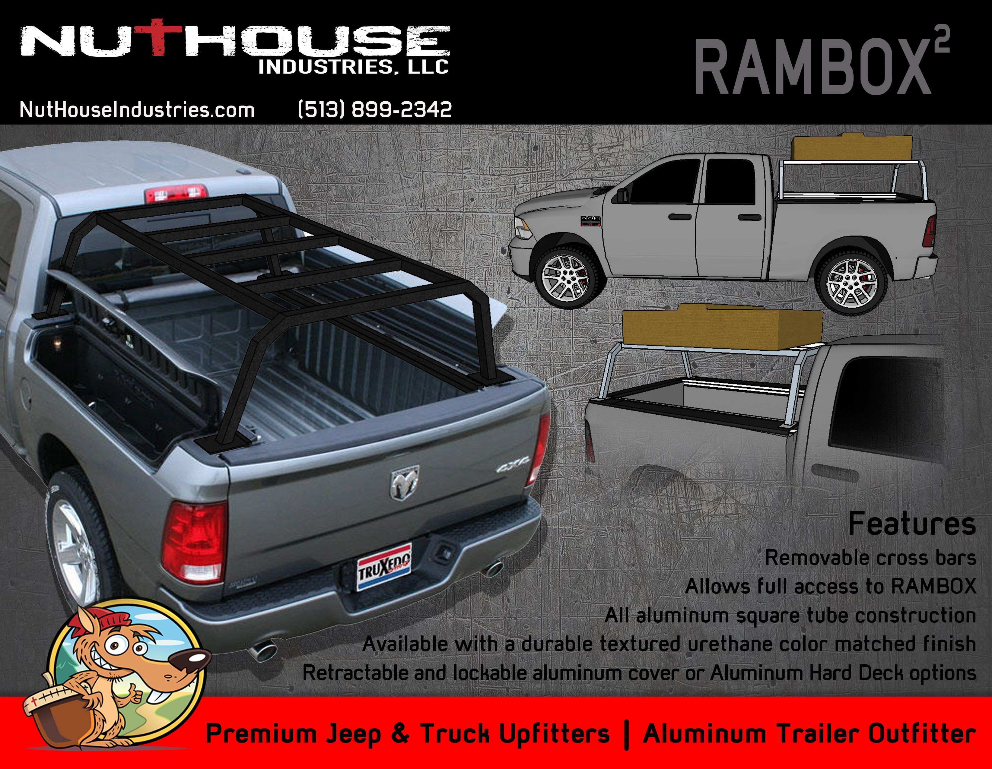 Nutzo Rambox Series Expedition Truck Bed Rack Nuthouse Industries Rambox Truck Bed Expedition Truck