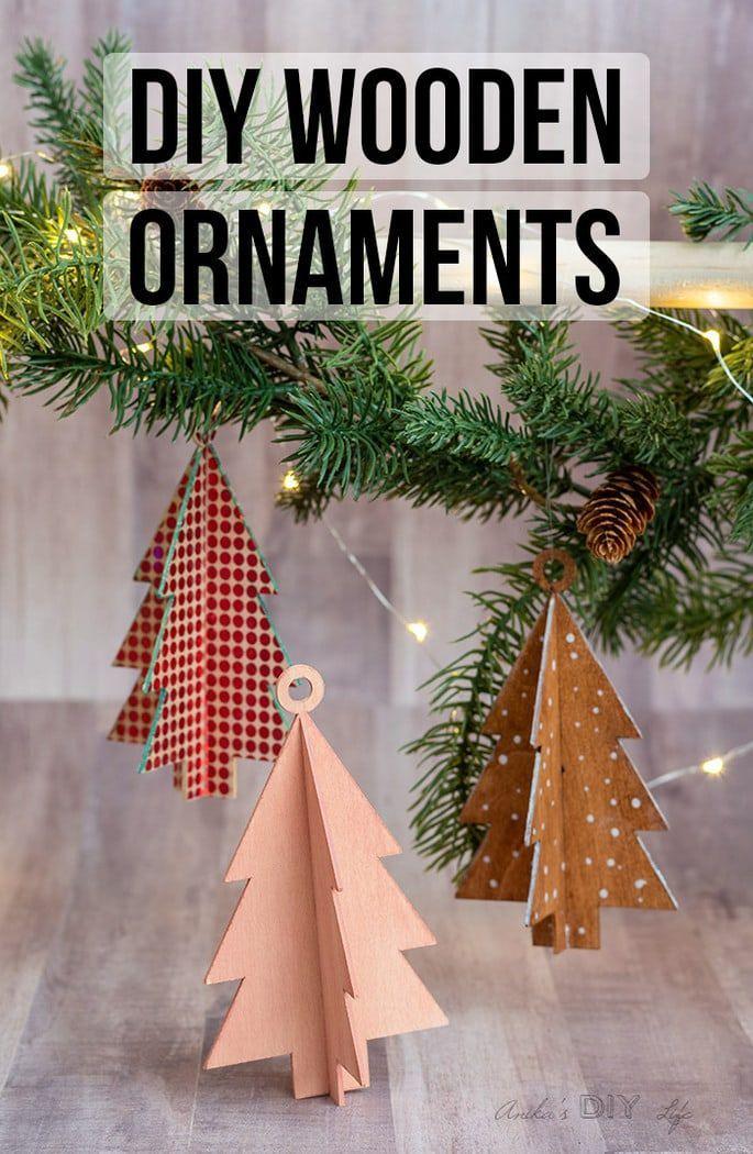 Diy Wooden Christmas Ornaments Using Cricut Maker Wooden Christmas Ornaments Wooden Diy Diy Christmas Ornaments