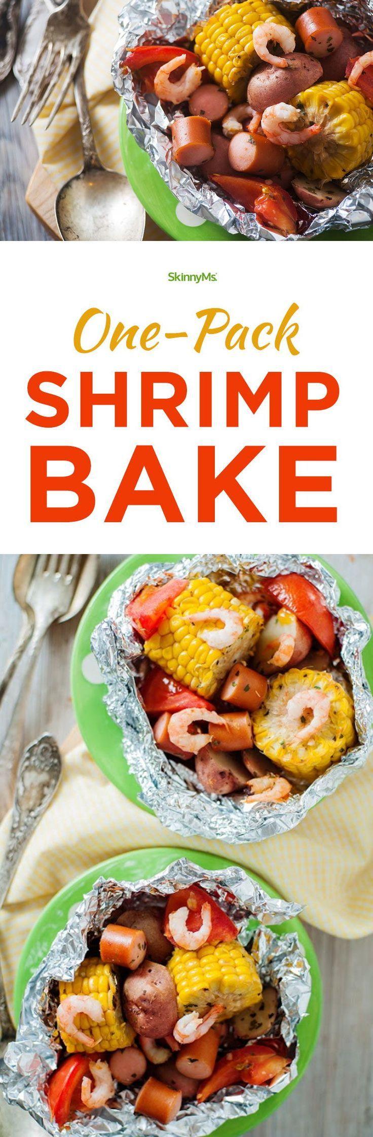 One-Pack Shrimp Bake Easy Dinner Recipes