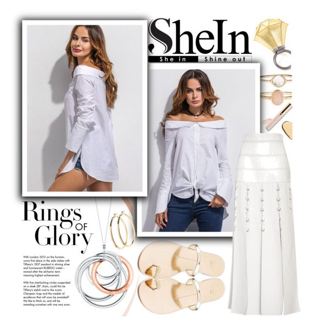 f5352cd5393c6 White Off The Shoulder Super Long Sleeve Shirt-SHEIN