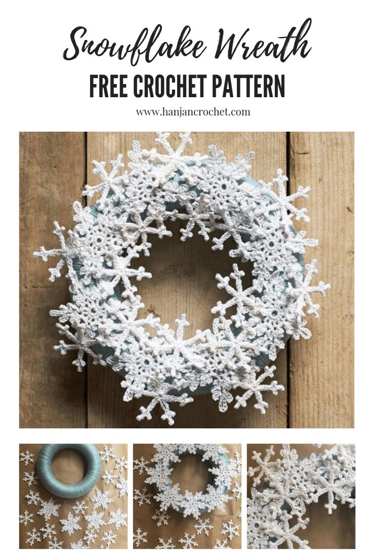 Photo of The Snowflake Wreath – Free Crochet Pattern