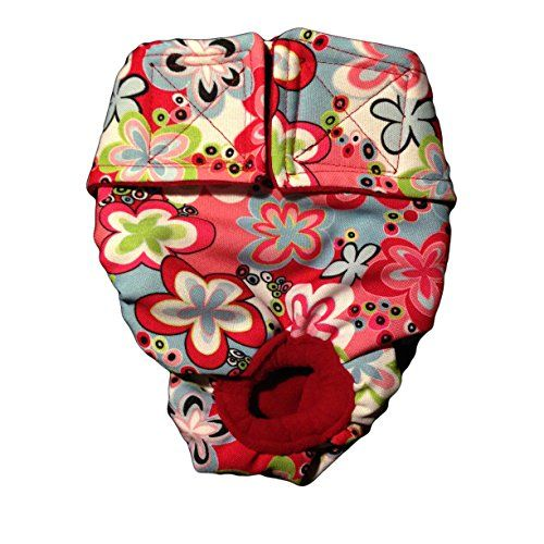 Barkerwear Dog Diaper - Colorful Spring Flower on Pink Washable Cover-up / Diaper, XS for Incontinence, Housetraining and Dogs in Heat - Fits Small, Medium, Large, Extra Large Dogs Barkerwear http://www.amazon.com/dp/B00UKX3BGW/ref=cm_sw_r_pi_dp_2FGevb119S880