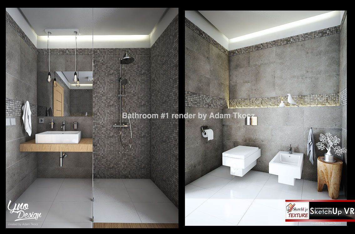 1#-Sketchup-3d-bathroom-by-Adam-Tkcoz render | home dis | Pinterest for Wall Designs Texture For Bathroom  49jwn