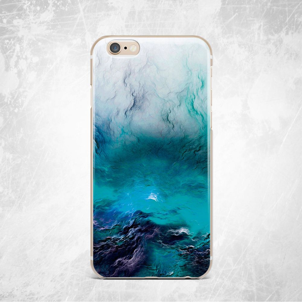 finest selection b4249 a2610 Water Sea Ocean Marble Print Soft Silicone TPU Rubber Case iPhone 5 ...