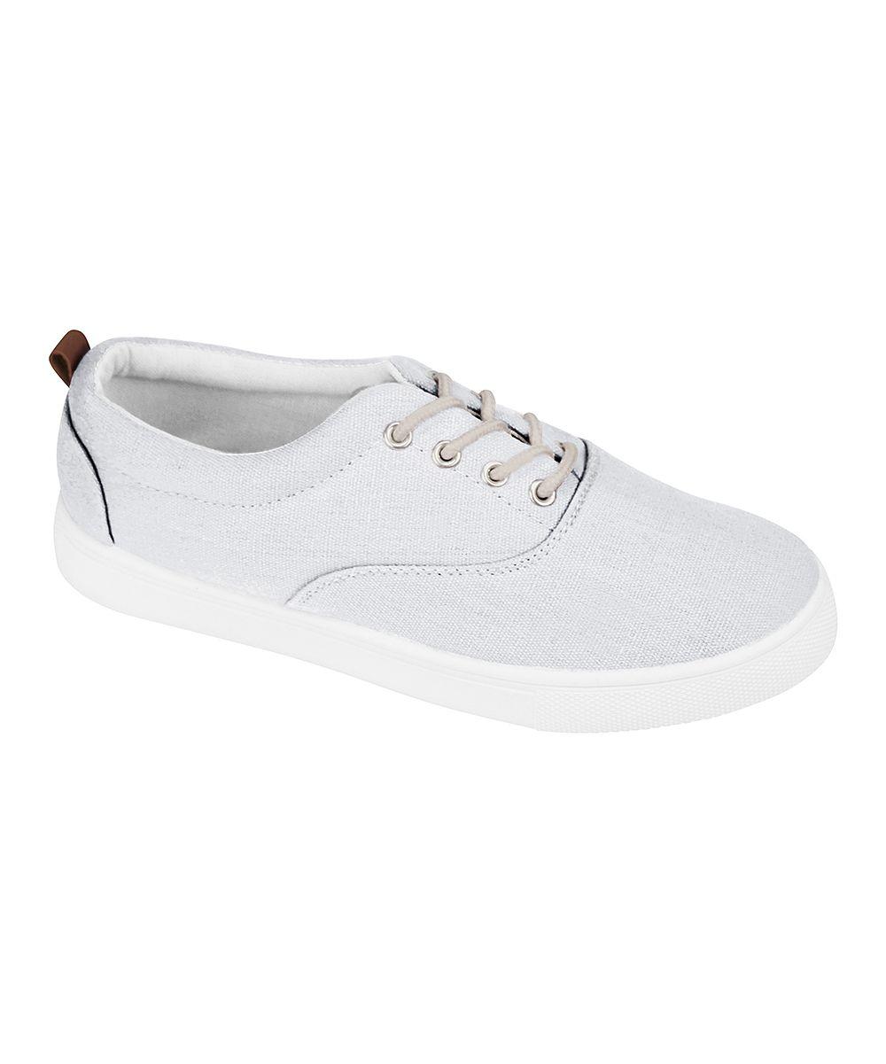 White Canvas Sneaker