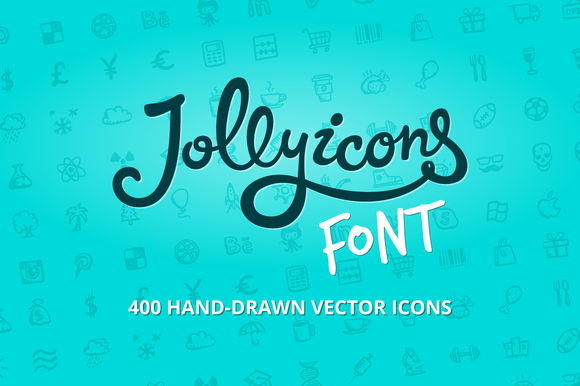 Check out Jolly Icons Font by Hand-drawn Goods on Creative Market: http://crtv.mk/dTMr