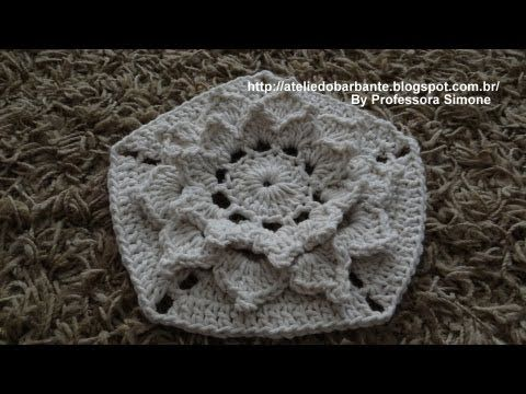 flores de croche prof simone hexágono - Pesquisa Google