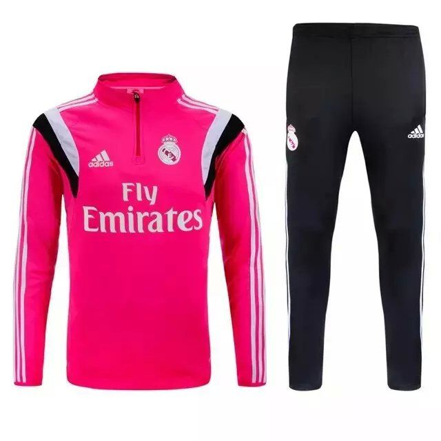 Real Madrid Jersey 2015 16 Pink Sweater Uniform Football Tracksuits Football Shirts Soccer Outfits