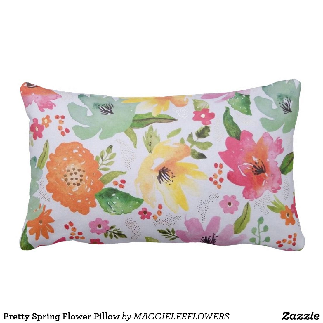 Pretty Spring Flower Pillow Pillows Decorative Throw Pillows