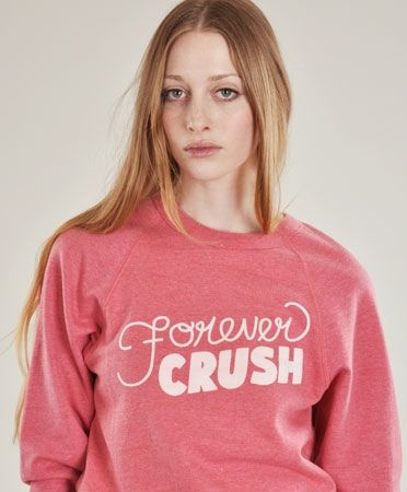 Forever Crush Sweatshirt by Rachel Antonoff.
