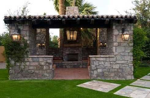 Patio Tin Roofs And Finally Each Of The Patio Structures That Follow Is Sited Next To Outdoor Fireplace Patio Outdoor Fireplace Designs Outdoor Fireplace
