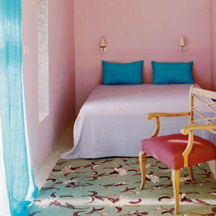 Chambre Turquoise Maroc | Les Pièces De La Maison Jouent La Couleur En  Total Look