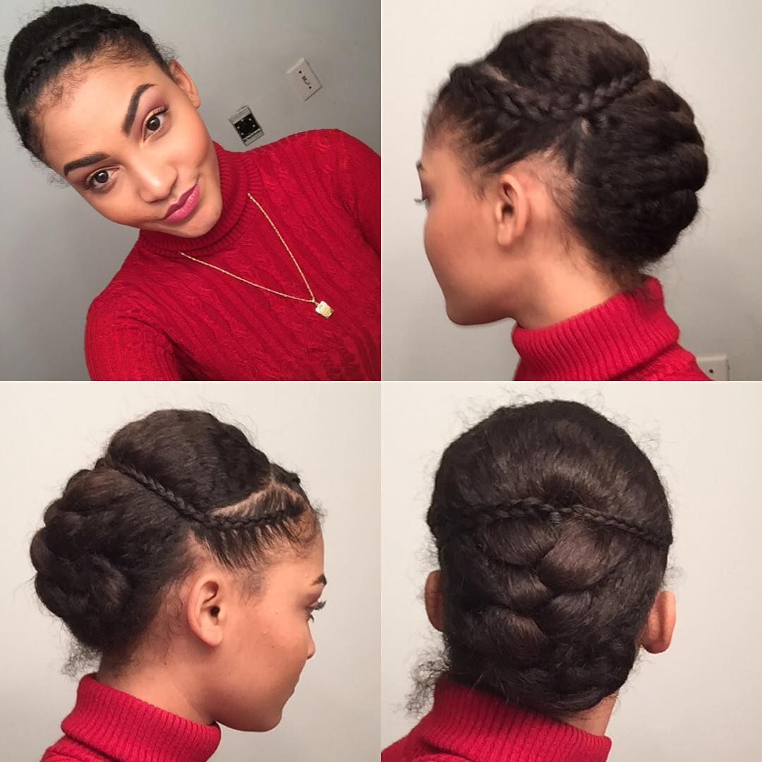 Easy to do updo naturalhairstyle naturalhair the natural hair