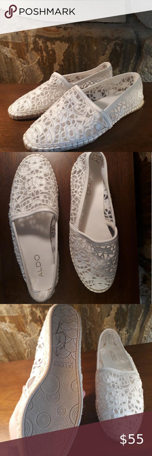 Aldo White Espadrilles Flats Shoe 7.5