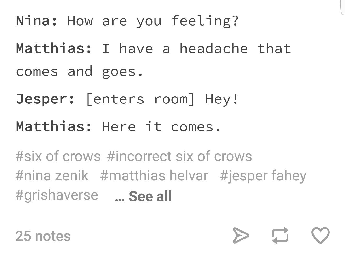 Pin By On Soc Crooked Kingdom Six Of Crows Crow Book Memes