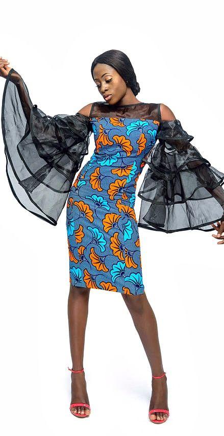 fd11d8a3136 Belle Ankara and Organza bell sleeve dress