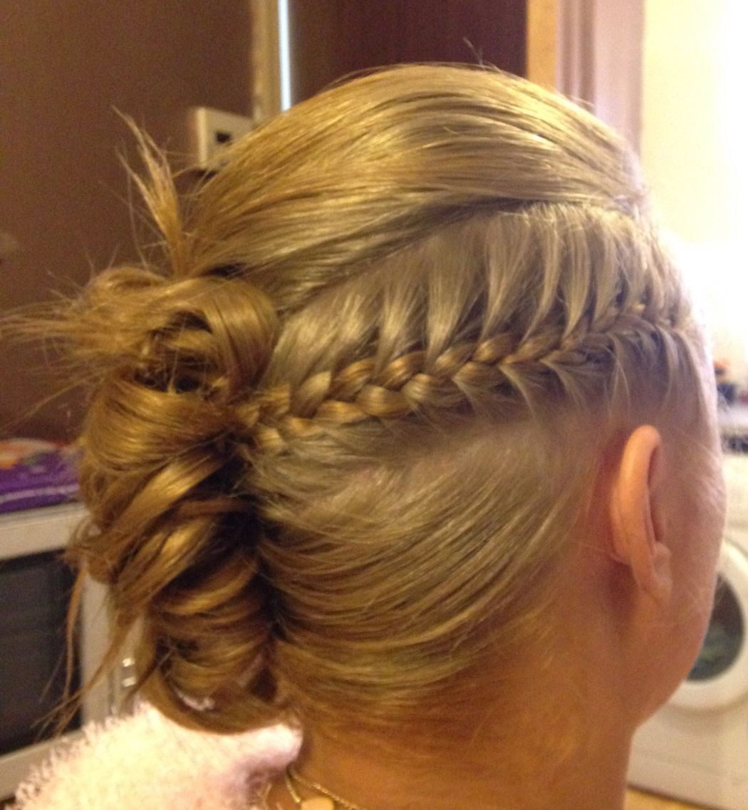 hair up styles plaits hair up with plait and barrel curl to the side hair ups 6576