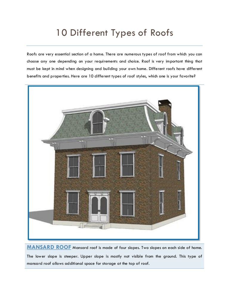 Best Ten Different Roofing Types One Must Know Before 400 x 300