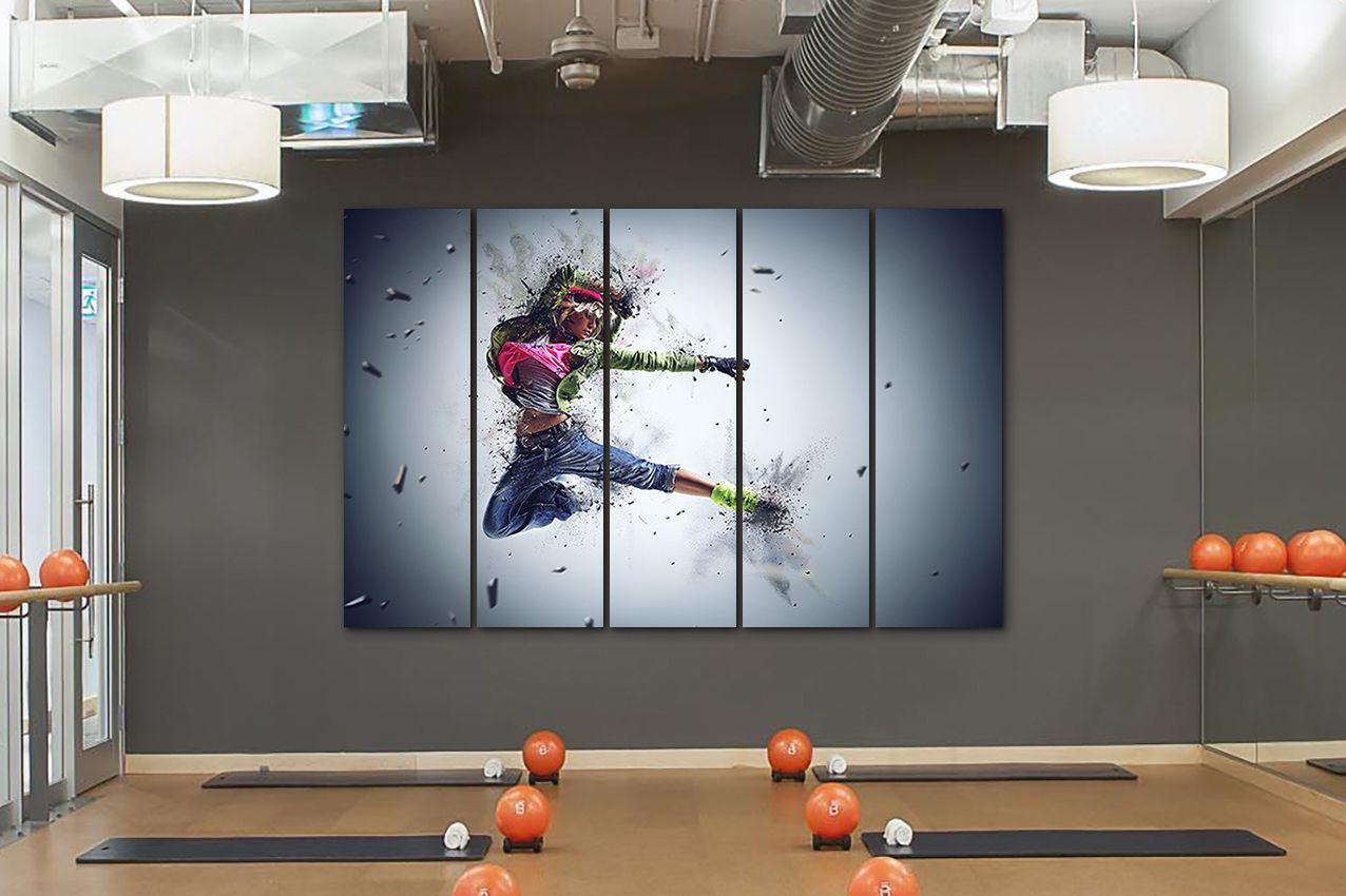 Dancer Canvas Sports Wall Art Dance Studio Decor Game Canvas Art
