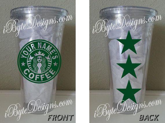 Custom  Starbucks Inspired Logo  16 oz. or 32 oz. by iByteDesigns