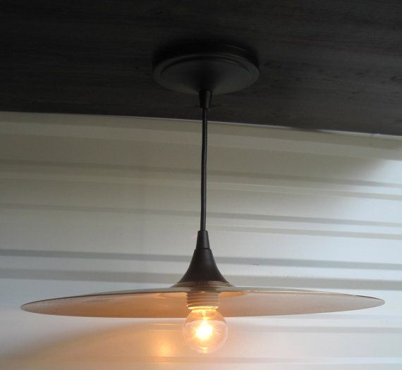 Cymbal Pendant Light Fixture On Etsy 69 00 Home Decor