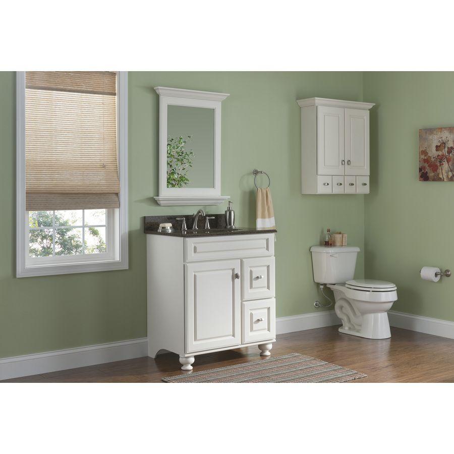 Shop Allen + Roth Britwell Cream Traditional Birch Bathroom Vanity (Common:  30 In