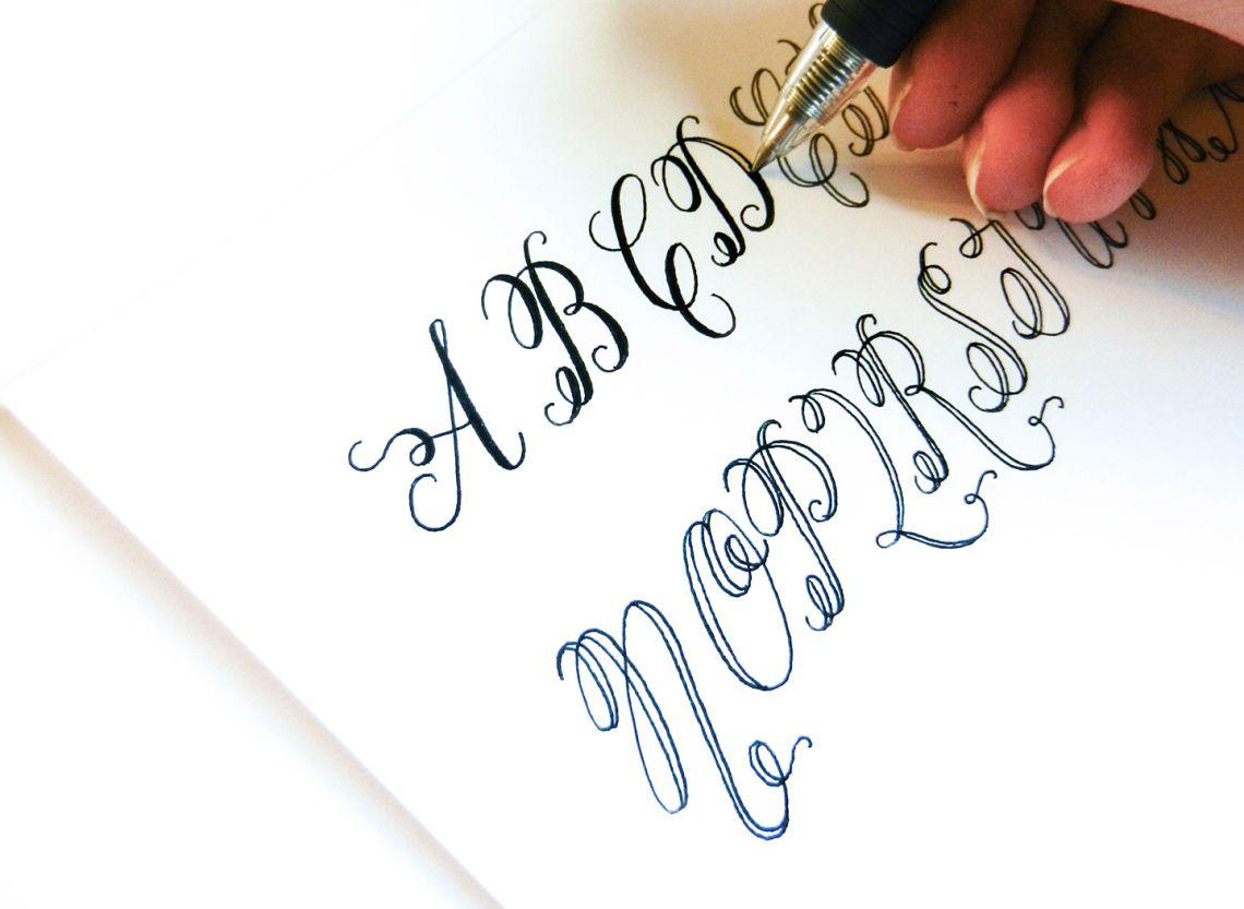 Flourish Formal Style Calligraphy Worksheet | Kalligraphie ...