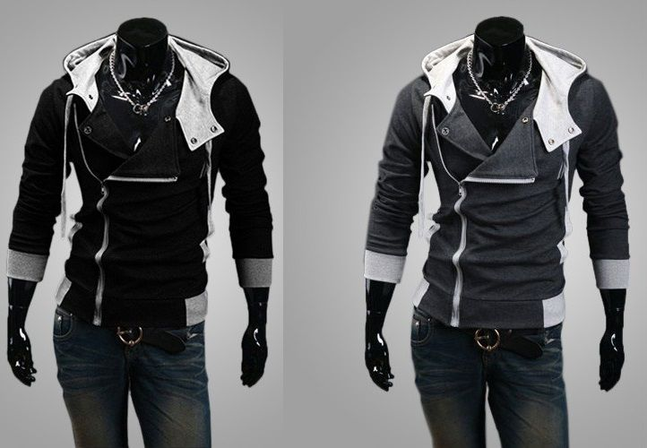 Bluza Meska Czarna Z Kapturem Szara Zapinana L 40 5266878911 Oficjalne Archiwum Allegro Motorcycle Jacket Fashion Jackets