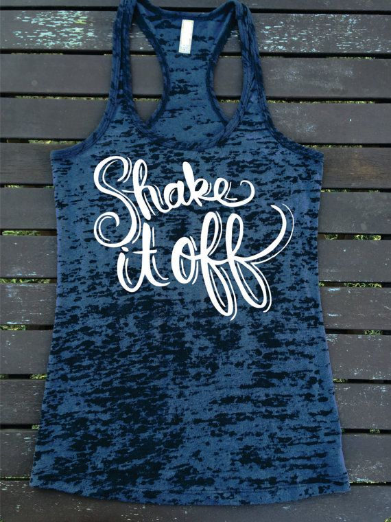 Shake It Off Burnout Racerback Ladies Athletic by SuperTeesandHats
