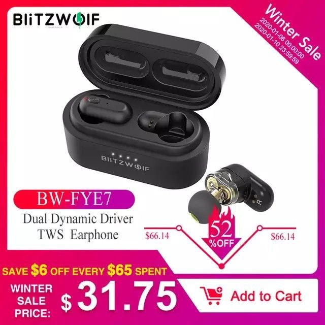 Photo of Blitzwolf BW-FYE7 TWS Bluetooth V5.0 In-ear Earphone Bass Stereo Bilateral ,  #Bass #Bilater…